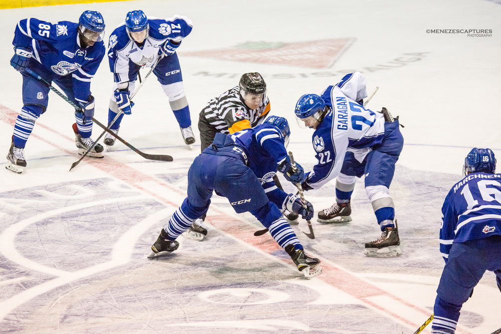 Mississauga Steelheads puck drop versus the Sudbury Wolves (2017)