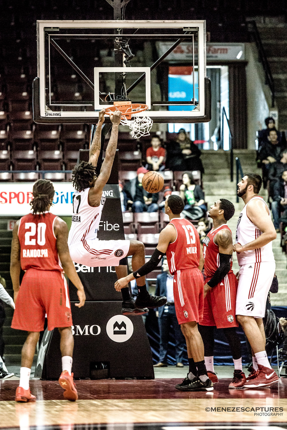 Toronto Raptor centre Lucas Negouira goes for the dunk (2017)