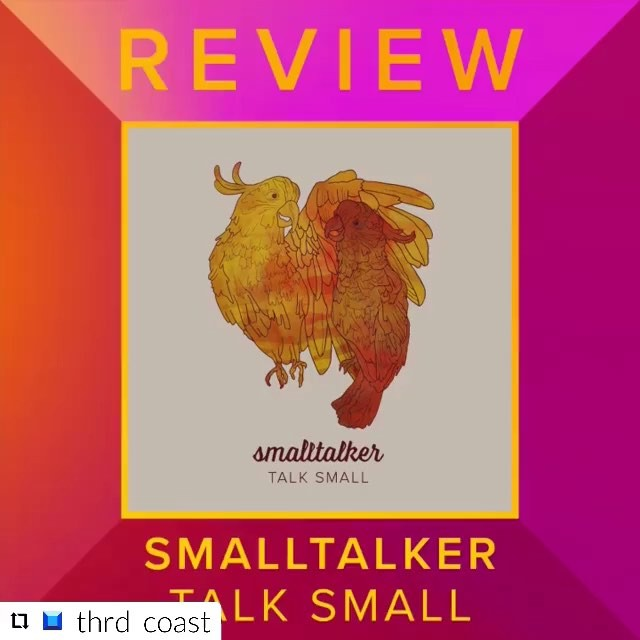 Hey now! Peep this awesome review of our scnd EP - talk small - from our good friends at @thrd_coast - and have a listen to the dang thing while you're at it! If you're feeling extra generous you can support us by buying the record on our band camp - link to that in the ol' bio. Or you can stream it anywhere you want - like in a hot air ballon or your favorite local donut joint! #WALKTALL #talksmall