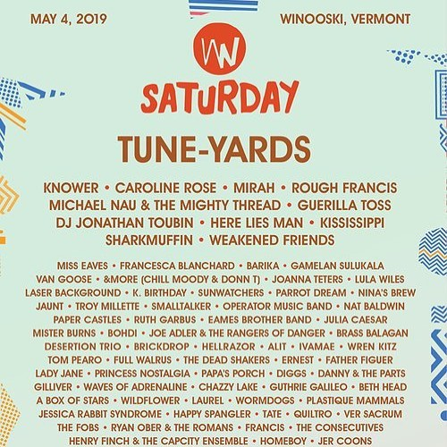Well well well. We're wafting wacky winds with wonderful well-givers (at) Waterworks, Winooski (for) Waking Windows! Will we waltz? Wow.  12:45am showtime for us! @brickdropmusic is 9:45p! @joannateters is 10:45p! @deadshakers is 11:45p!
