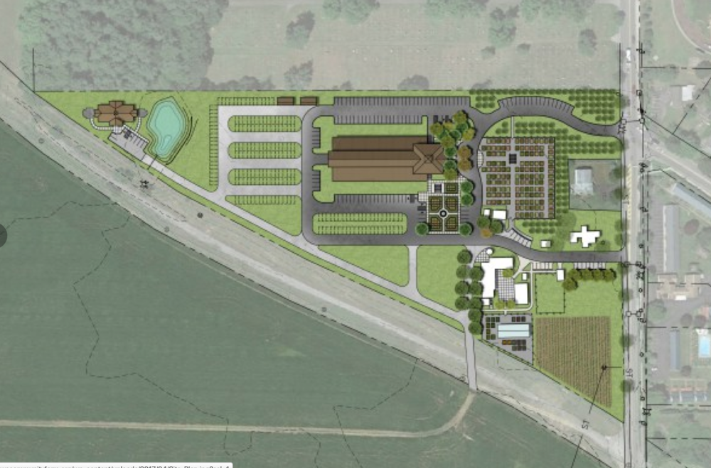 THE 11.5 ACRE 'TRIANGLE' IS WHERE MOST OF THE FARM BUILDINGS AND PARKING WILL BE DEVELOPED. THE CITY REGARDS IT AS A 'PLANNED UNIT DEVELOPMENT,' WHICH PROVIDES FOR FLEXIBILITY IN PLANNING.