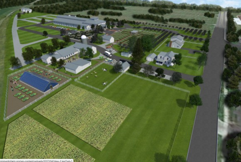 THE CHILDREN'S GARDEN AND GREENHOUSE AT LEFT WILL BE PITNEY MEADOWS' NEXT MAJOR BUILDING PROJECT.