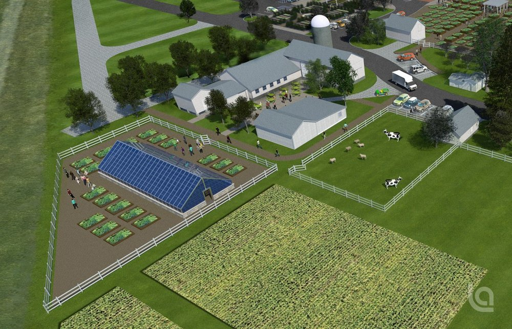 the children's greenhouse and gardens is scheduled to be built in 2018.