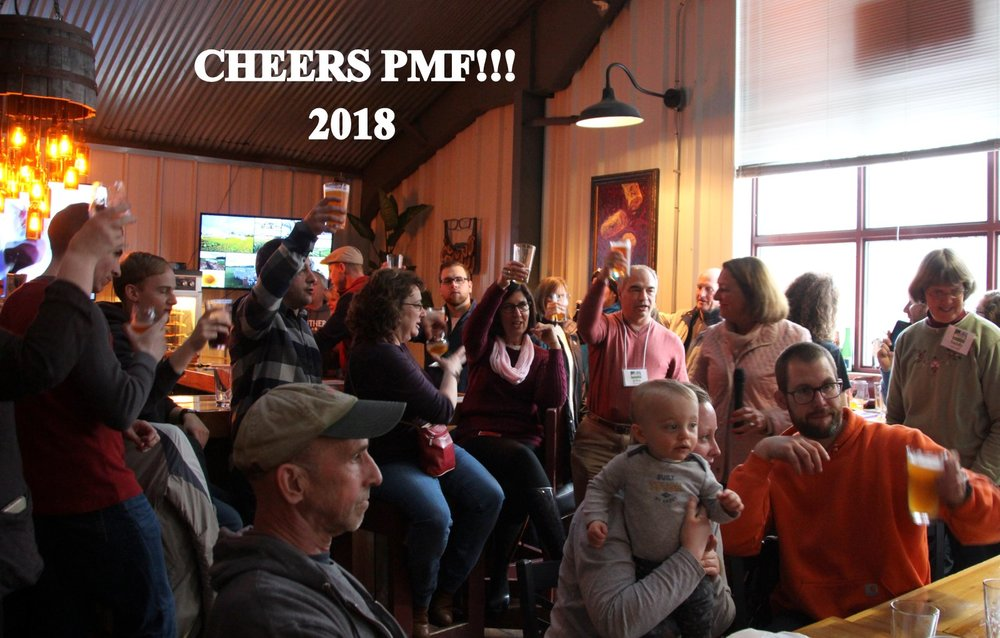 raising a toast to success! Photo: Sue Clark