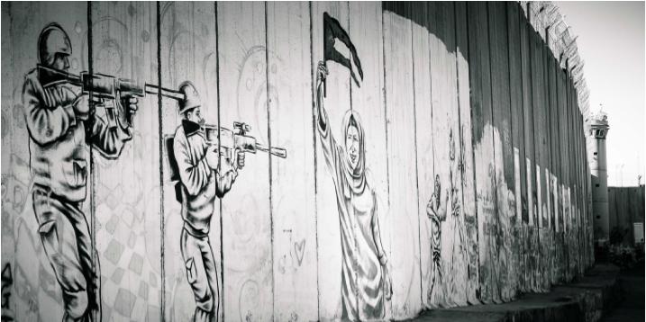 (photo: Steve Pavey - 2017 - Apartheid Wall in Bethlehem)