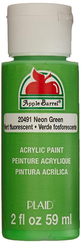 Neon Green Craft Paint
