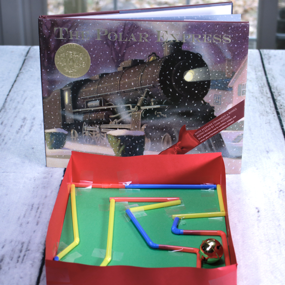 The Polar Express Jingle Bell Maze STEM
