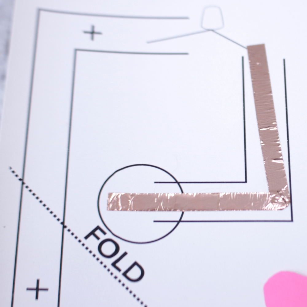 Valentine's Day Paper Circuit Card