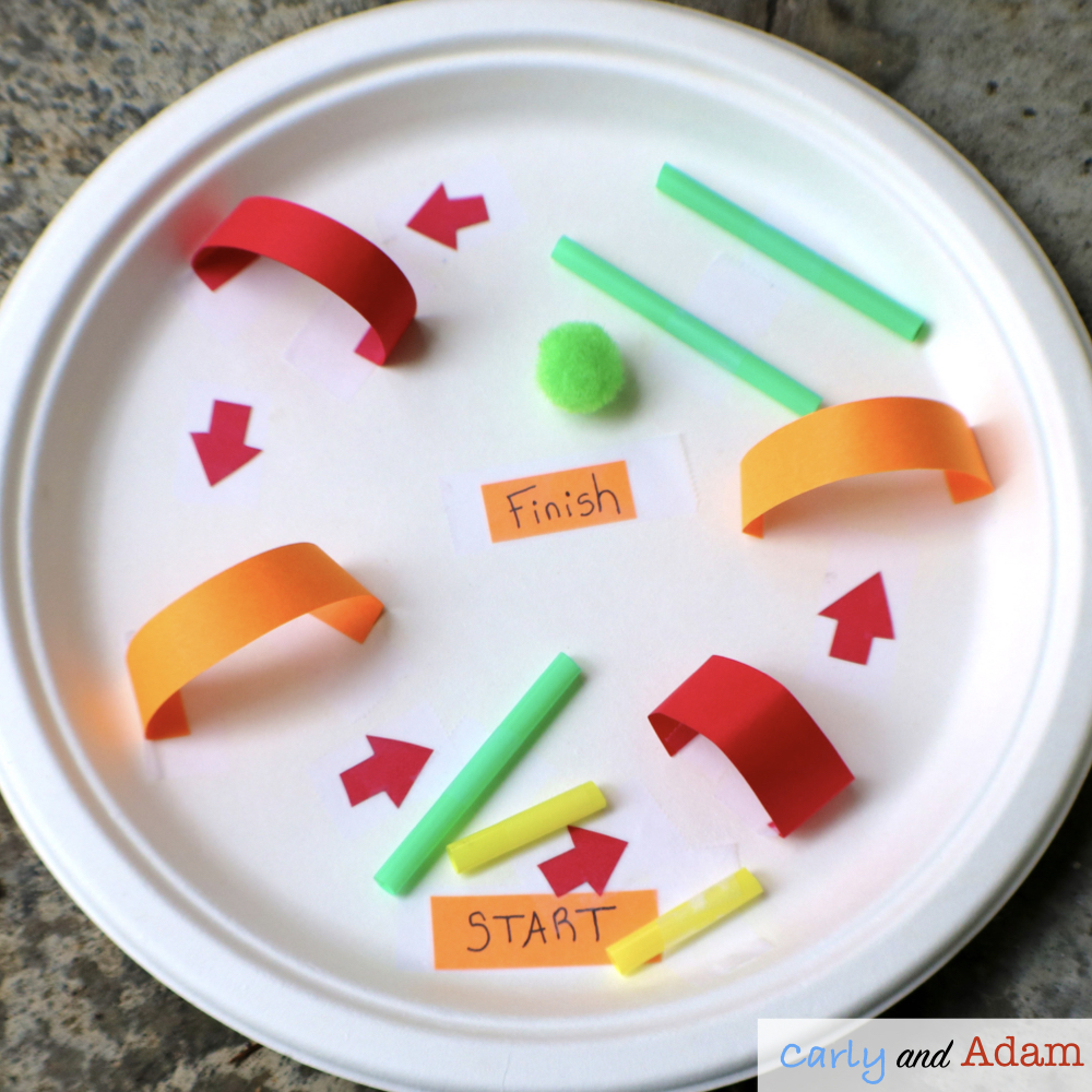 Paper Plate Marble Run STEM Challenge