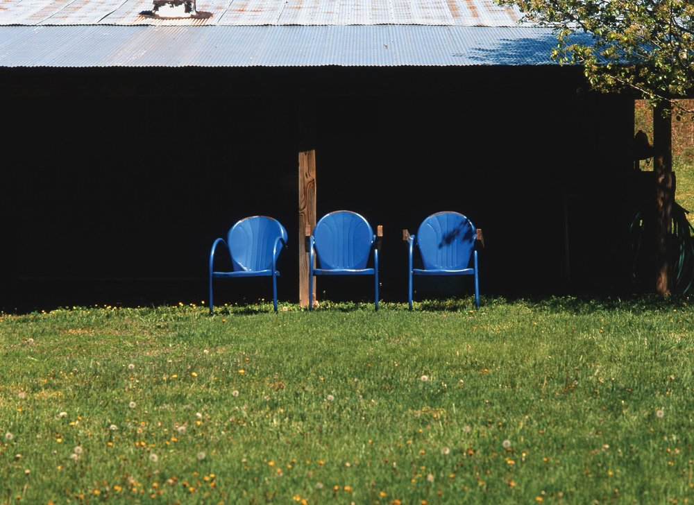Three Blue Chairs