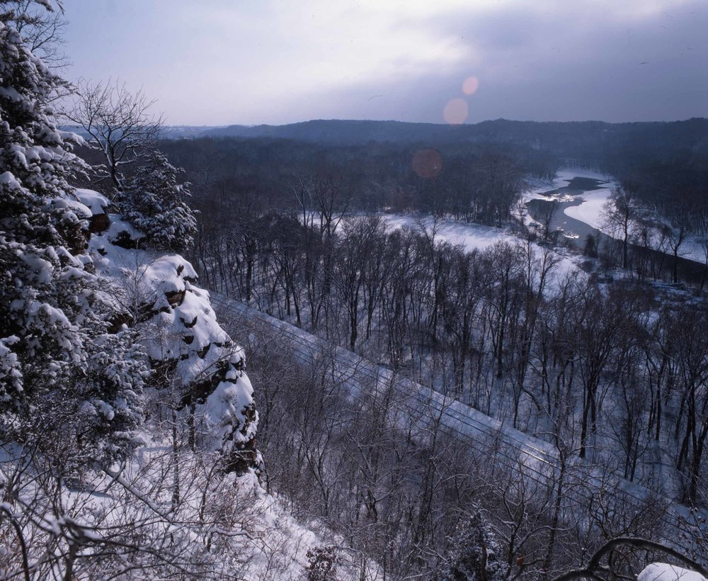 Meramec River Bluffs in Winter
