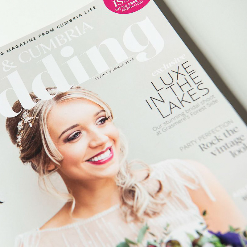 Keseme Bridal Make-up featured in Lakes & Cumbria Wedding Magazine 2018.jpg