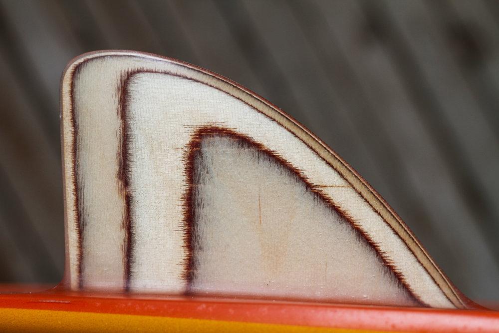 Balsa wood Keel fin