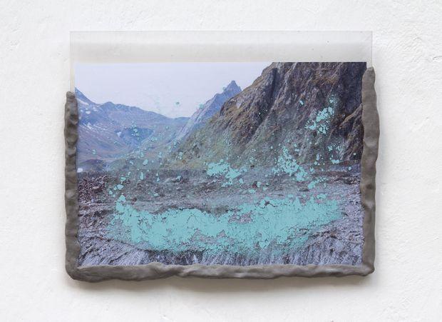 Laura Pugno, Memorie remote 02, 2016,photographic print, pigment, modelling paste and plexiglass,cm 25 x 31