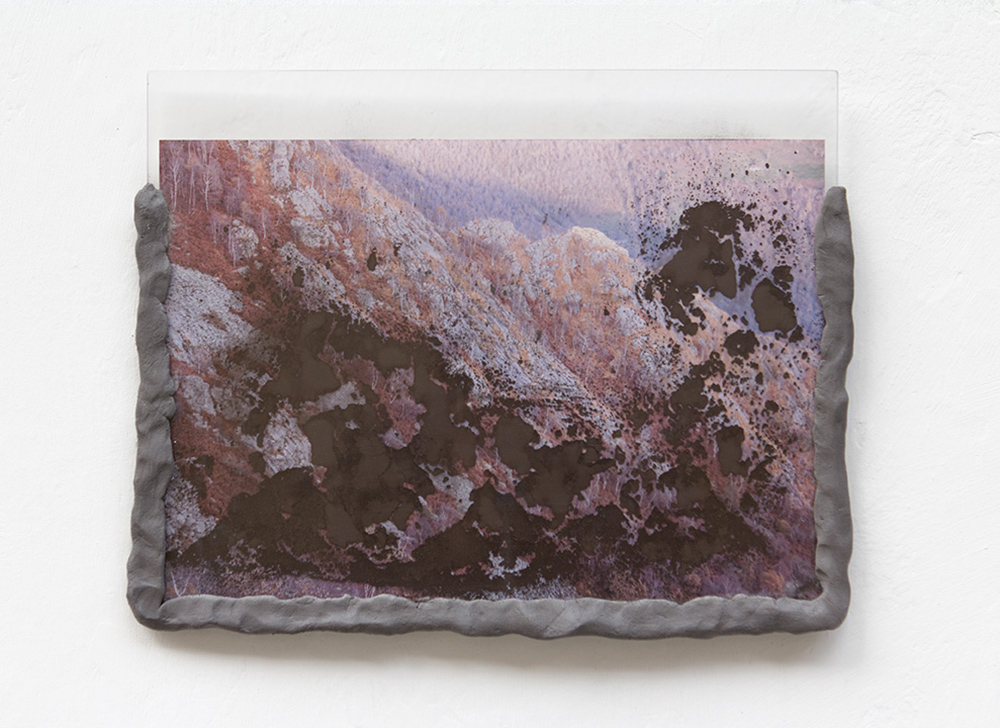 Laura Pugno, Memorie remote 03, 2016,photographic print, pigment, modelling paste and plexiglass,cm 25 x 31
