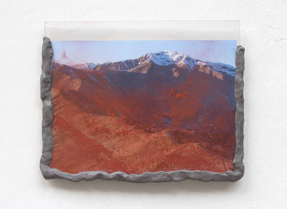 Laura Pugno, Memorie remote 04, 2016,photographic print, pigment, modelling paste and plexiglass,cm 25 x 31