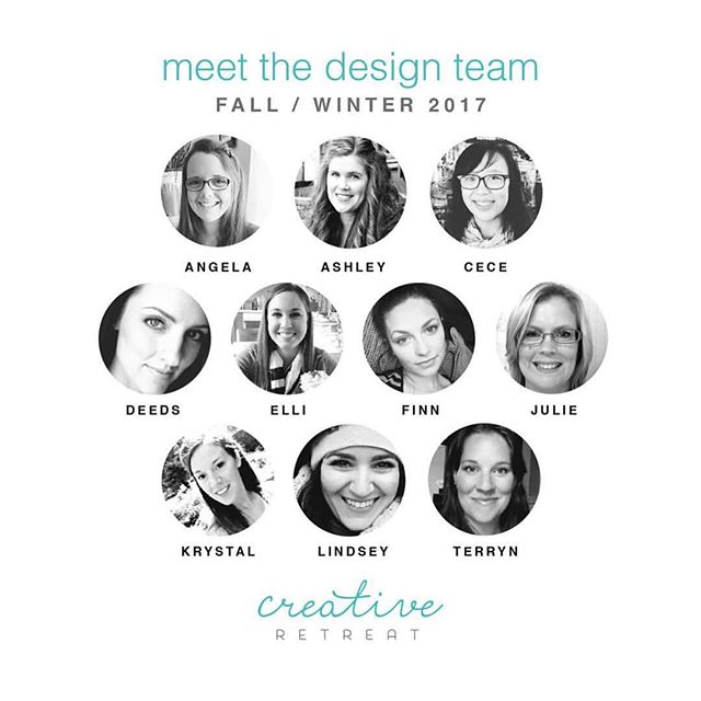 Yay for the fall/ winter design team. Excited to be staying on and for the new members. Go follow all these beautiful ladies ❤️ @creativeretreat #creativeretreat