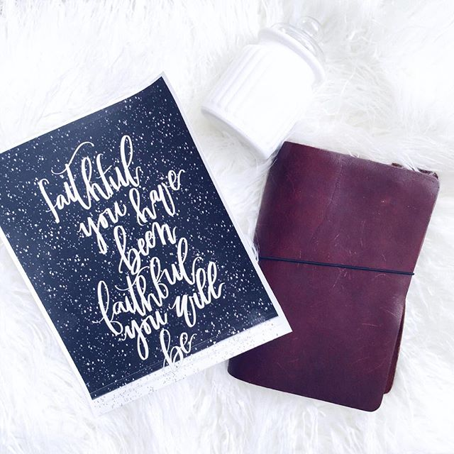 Lord, faithful you have been and faithful you will be. I am reminded of His faithfulness constantly. While walking through the valley and while coming out. Embrace His faithfulness knowing He will never leave you nor forsake you. Knowing He has loved you at your darkest and will continue to love you through it all ⠀⠀ Ps it's cool seeing my hand lettering printed 😱 . . . . .  #jesus #bible #moderncalligraphy #modernlettering #handlettered #brushlettering #hisgracegirls #community #women #encourage #encouragement #christianblogger #encouragewomen #godisfaithful #calligraphy #womanoftheword #livingwithpurpose #purposefullyliving #faithful #journal #godisgood #sofaithful #declare #journaling #blogger #biblejournalingcommunity #byhisgrace #thanksgod #foundation #bethel