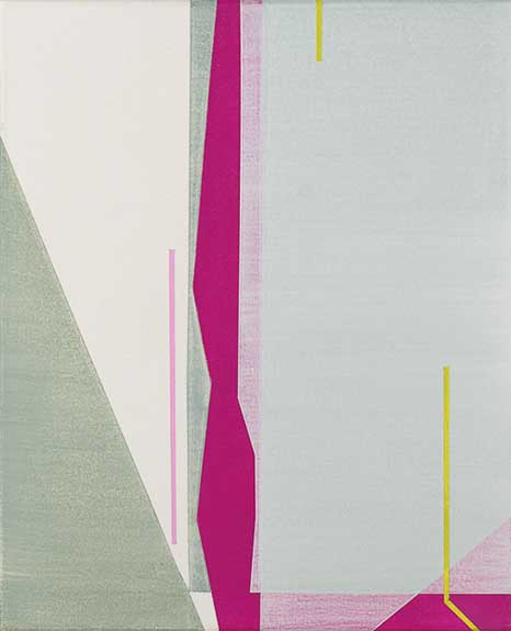 Todd Keyser, Untitled (Gray and Pink Abstraction), Acrylic on Canvas, 19 x 16 inches
