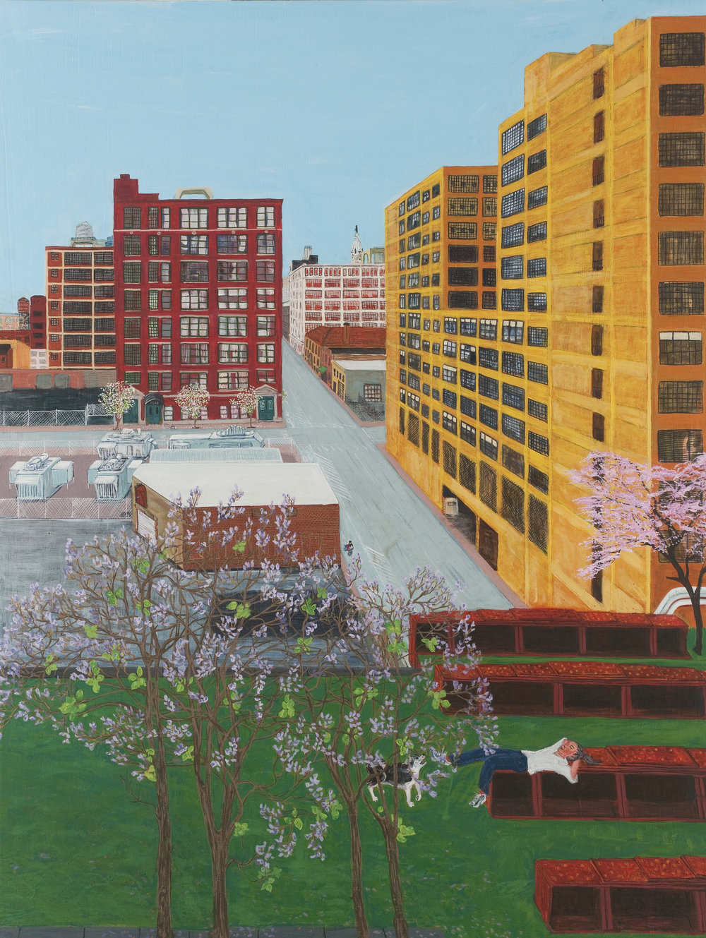Trestletown, 13th and Noble , 2012, acrylic on linen, 48 x 36 inches. Image courtesy of Locks Gallery