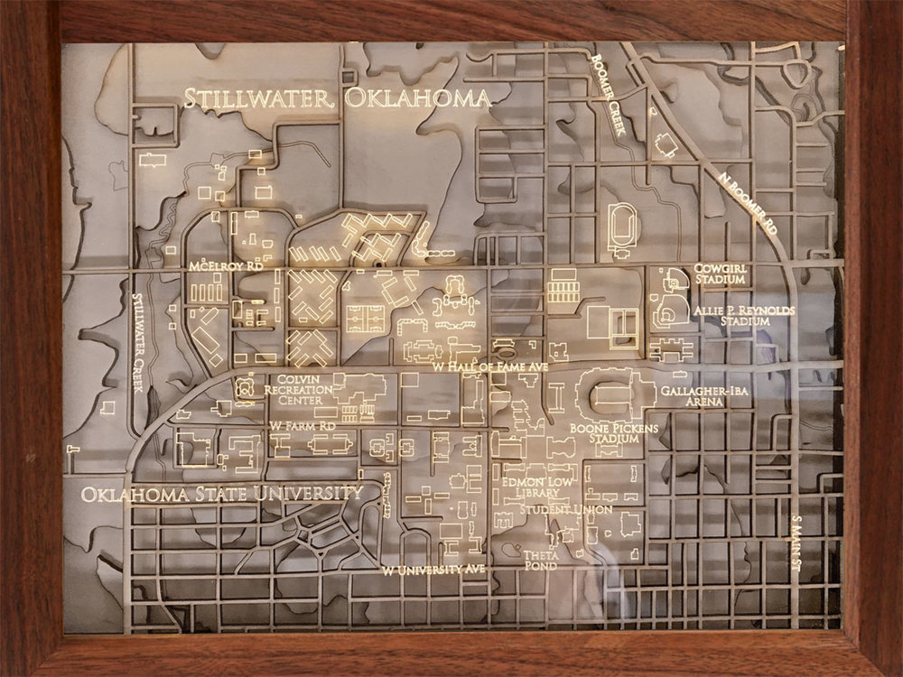 Oklahoma State University Campus Map Frame — Campus Map Frames