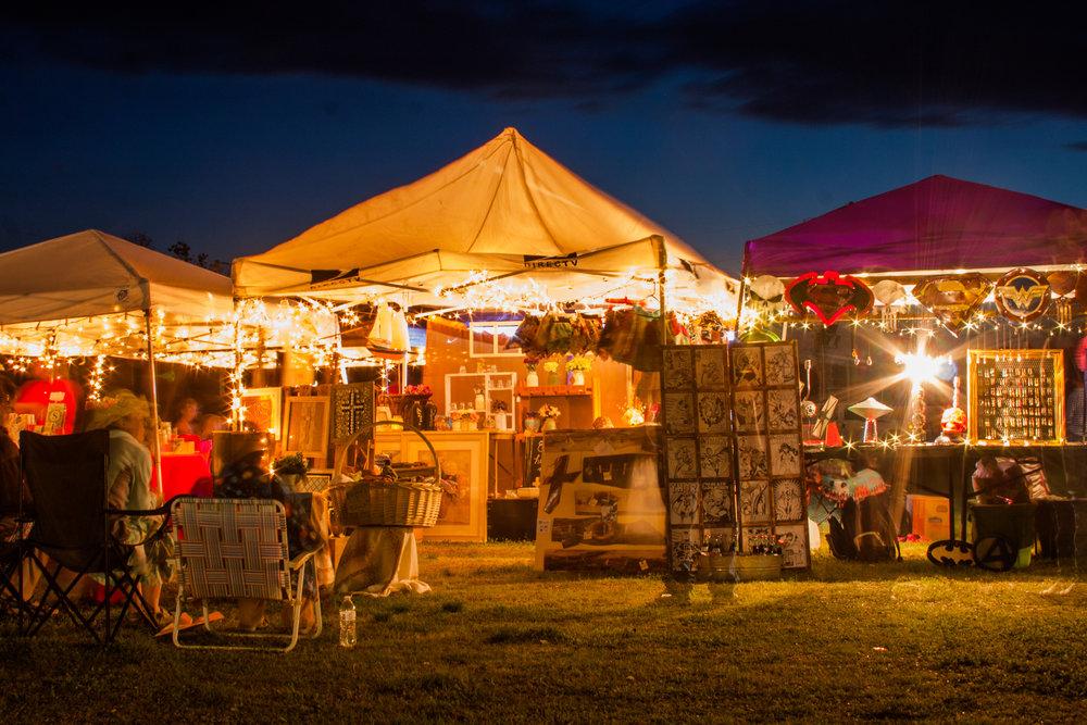 Vendors at Night