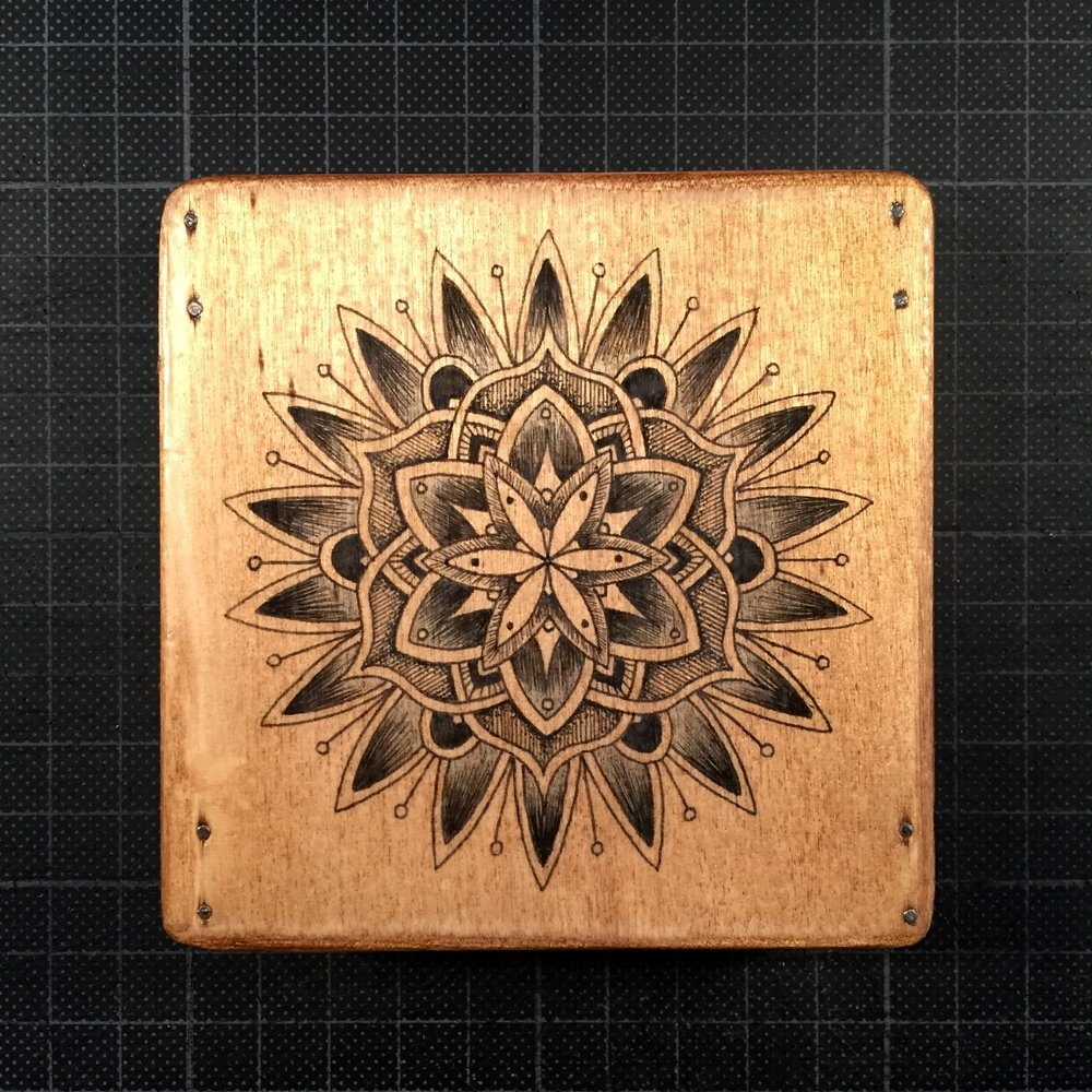Mandala on wood