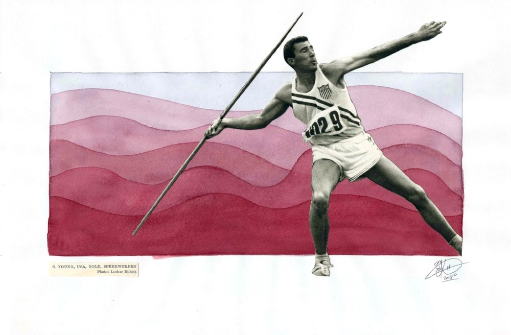 1952 Olympics - Spear Thrower