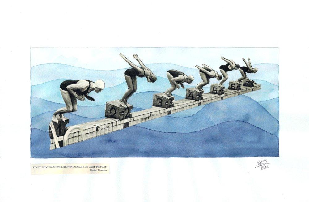 1952 Olympics - Swim Team