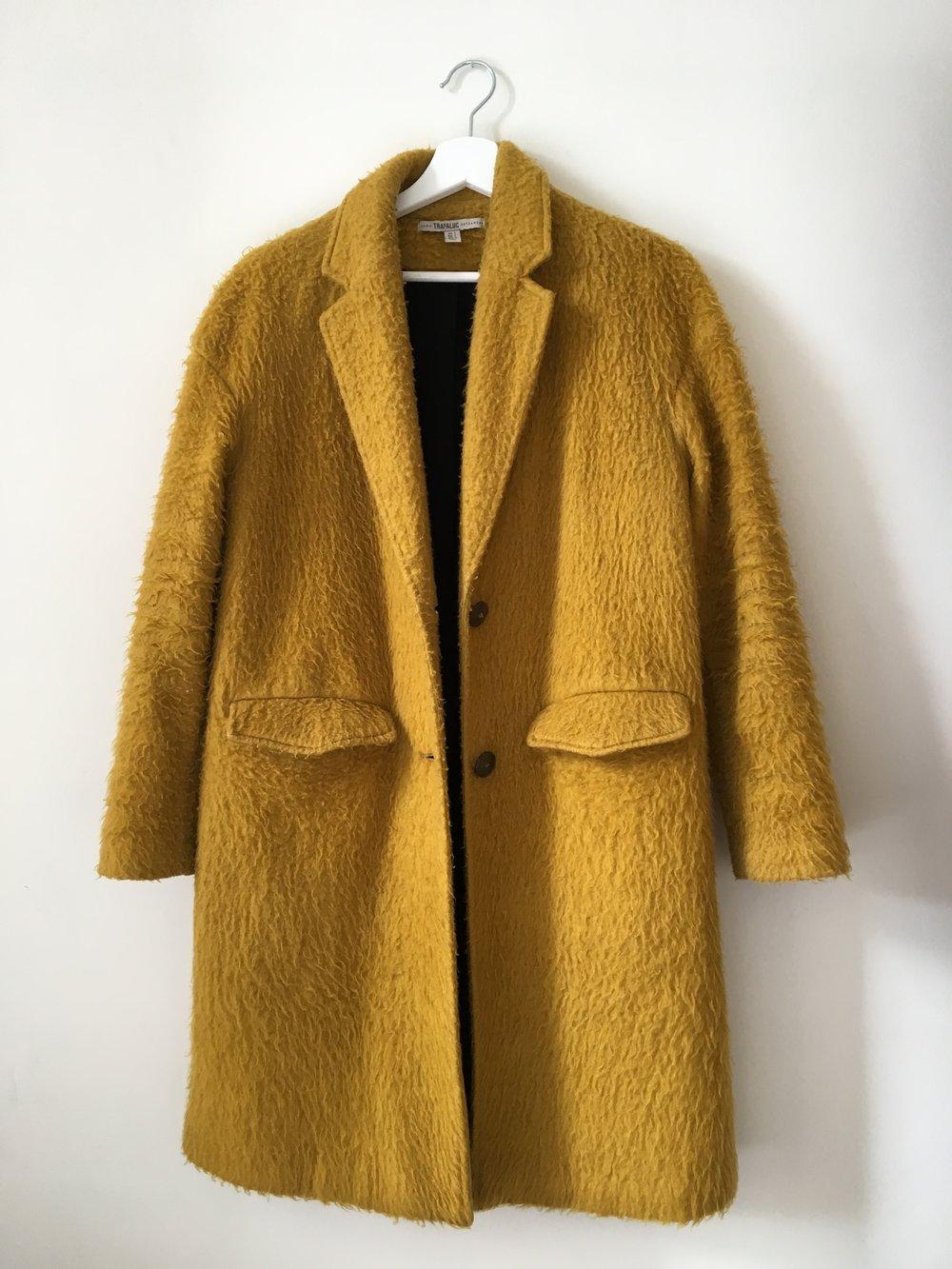 Mustard coat Zara 2015