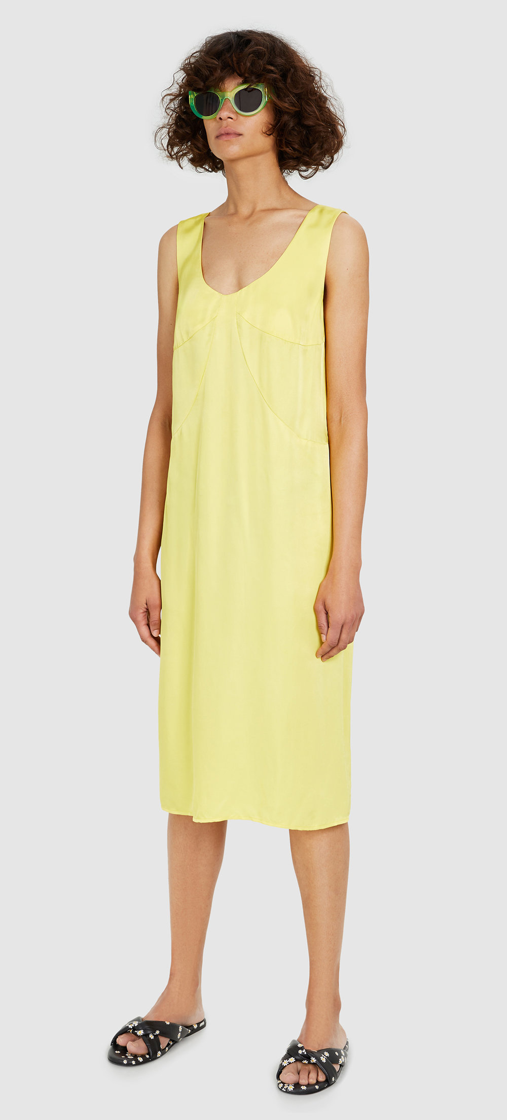 Bimba Y Lola - yellow low-cut dress - £175