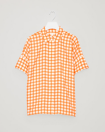 COS - gingham silk shirt - $135