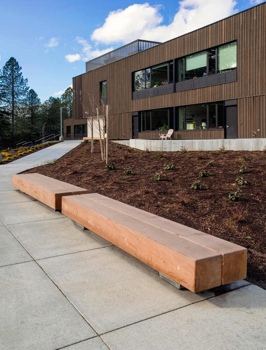 Meet the newest and largest member of our  TimberForm  bench lineup... Colossus!  These benches were co-designed by myself and the fantastic landscape architects at  Walker Macy  for Oregon Episcopal School. Check out TimberForm's latest ad in  Landscape Architectural Magazine.