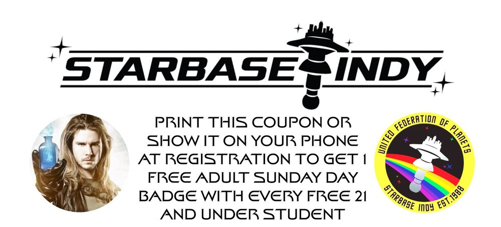 Print this image or show it on your phone at registration and receive a free adult Sunday-only day badge with each free Sunday student badge.