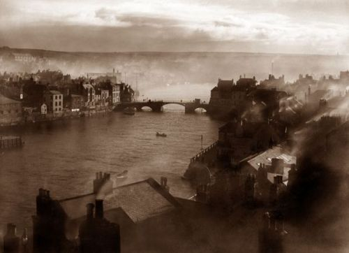 Whitby by Frank Meadow Sutcliffe circa 1890. From  Wikimedia Commons .