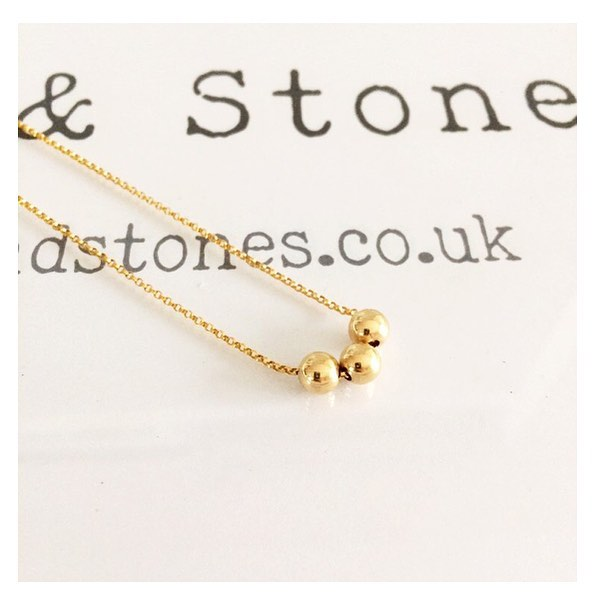 NEW - BALL & CHAIN NECKLACE 💛 Three Gold Filled beads represent the greatest loves & the chain represents the person who holds them all together... (personalise however many beads you wish, up to 5 options on the drop-down, but please message for bespoke)  #stacksandstones #madewithlove