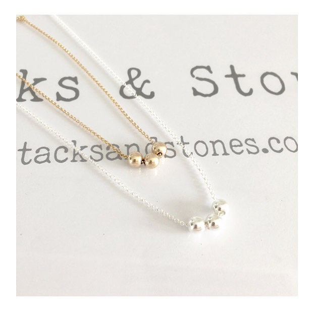 ** Ball & Chain ** both Sterling Silver & Gold Filled are now available on StacksandStones.com 🙌🏻☀️ #handmade #madewithlove