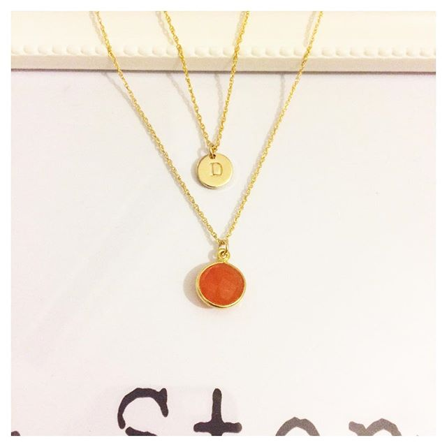 These beauties are leaving Stacks & Stones tomorrow 🧡🧡🧡🧡 #madewithlove . . . #handmade #handstamped #gold #semiprecious #carnelian #carnelianstone #jewellery #gifts #initialnecklace #layering #stacksandstones