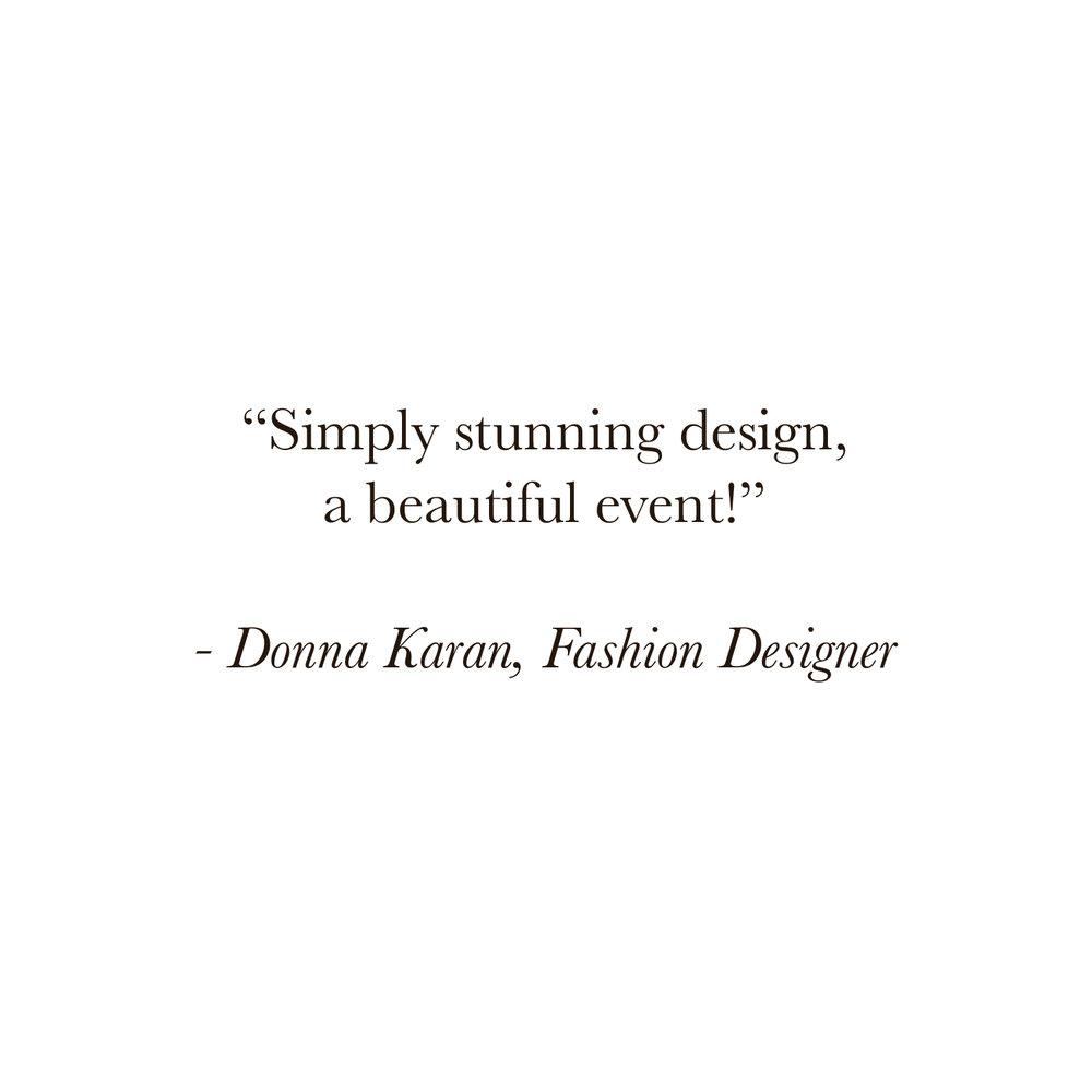 Donna Karan Luxe Fete Client Miami Event Planner