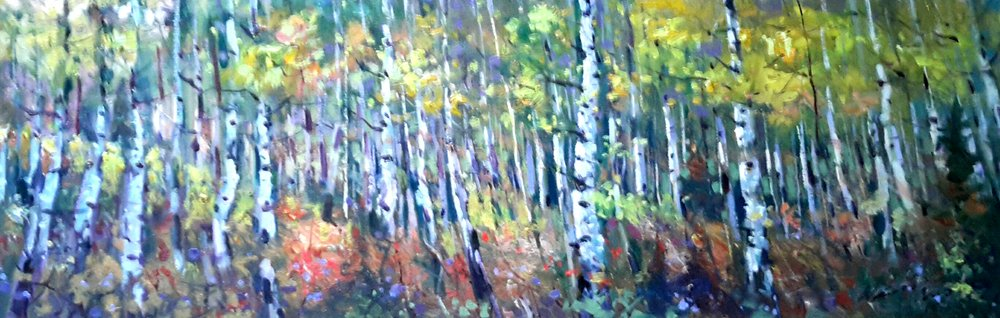 Aspen Wood on Lake Katherine in the Fall, October 5th , 2016,Weiming Zhao