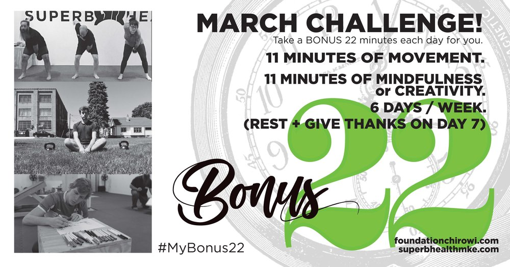 March 2018 Challenge sponsored by Foundation Chiropractic and Superb Health