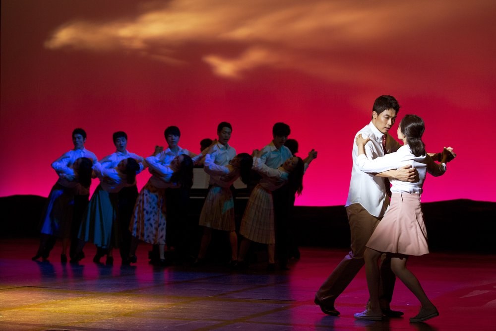 """The best original musical of the year. The poetic music and elegant staging are of the highest caliber.""   - Jae-Hyun Kwan, Dong-Ah Daily News   ""Heart-throbbing first love, more vivid than the original film… the new waltz is as elegant as the [Shostakovich] waltz in the film.""   - Bo-Mi Park, Hankyeore News   ""The music is the most outstanding element. The strings sound rich and fill the space; the music fits the warm and soft feelings of the show. Breaking away from the film's famous Shostakovich waltz and using an original waltz is one example of how the musical creates its own reason to exist. The songs have their own stories, while making a coherent whole… Bungee Jump succeeds at being a high-quality original musical based on a film. It provides a clue that it is possible to create a well-made show based on a film, which still has its own reason to be seen.""   - Sun-Ah Hwang, PlayDB   ""The beautiful songs are receiving a lot of attention… When I interviewed [lead actor] Woohyung Kim, he said, 'All the songs are so amazing,' and it turns out that he wasn't exaggerating. I give applause to lyricist Hue Park and composer Will Aronson, who created the beautiful score.""   - Jeong-Hwan Park, Oh My Star News"
