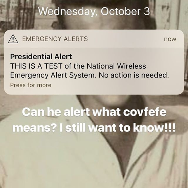 10 bucks says he uses this for his tweets • #trump #covfefe #presidentialalert #fema #potus #maga #wtf #why #hindsight #is #2020