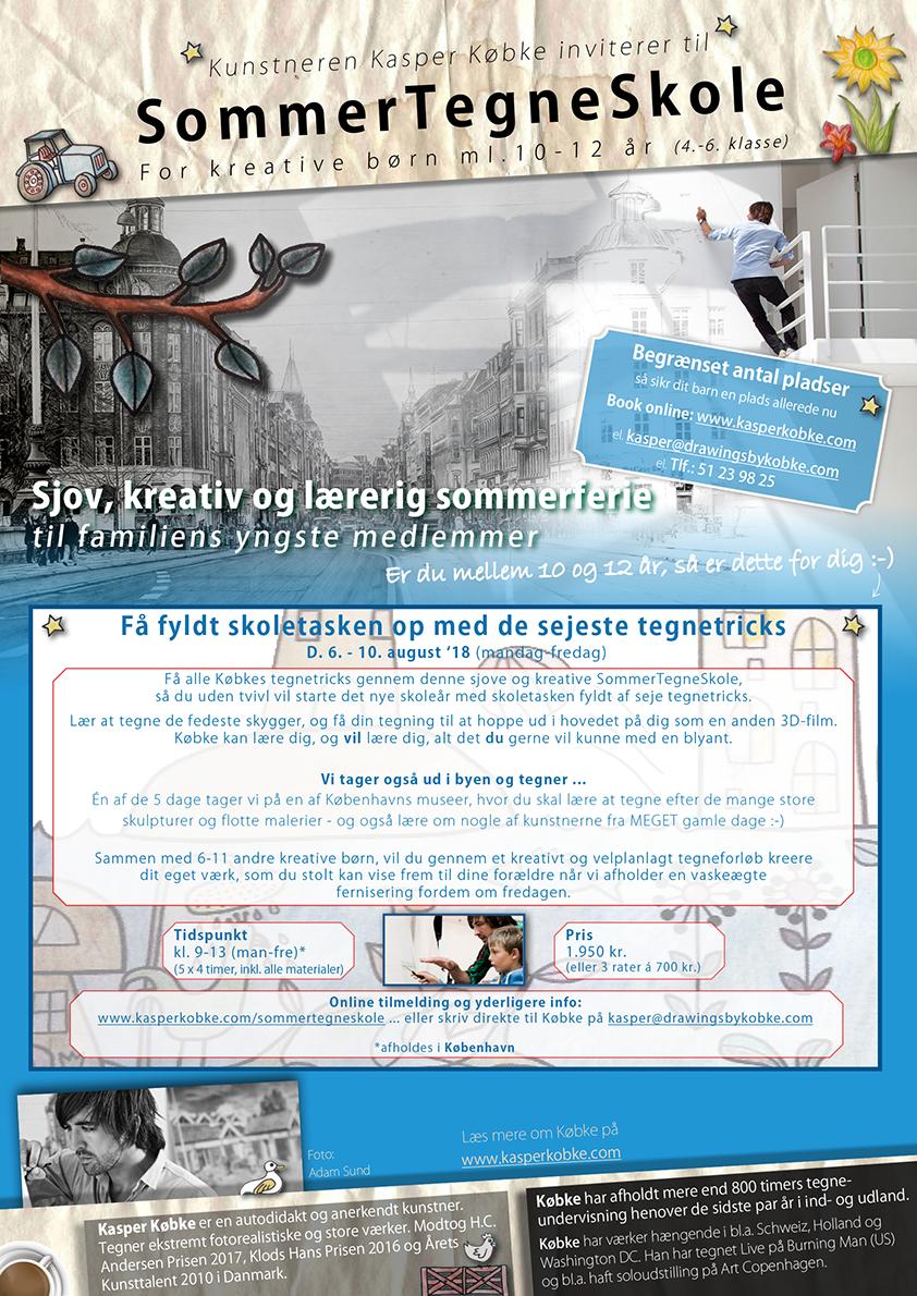 Download, udskriv og ophæng SommerTegneSkole-opslaget