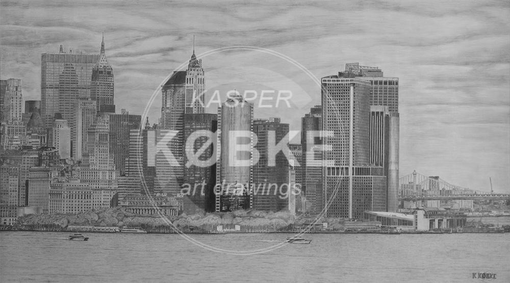 New York Skyline - (180 x 100 cm)