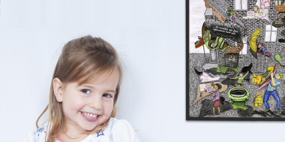 Barnets trivsel og selvværd forbedres, når der samtales med barnet på krisecentrene -  modelfoto.