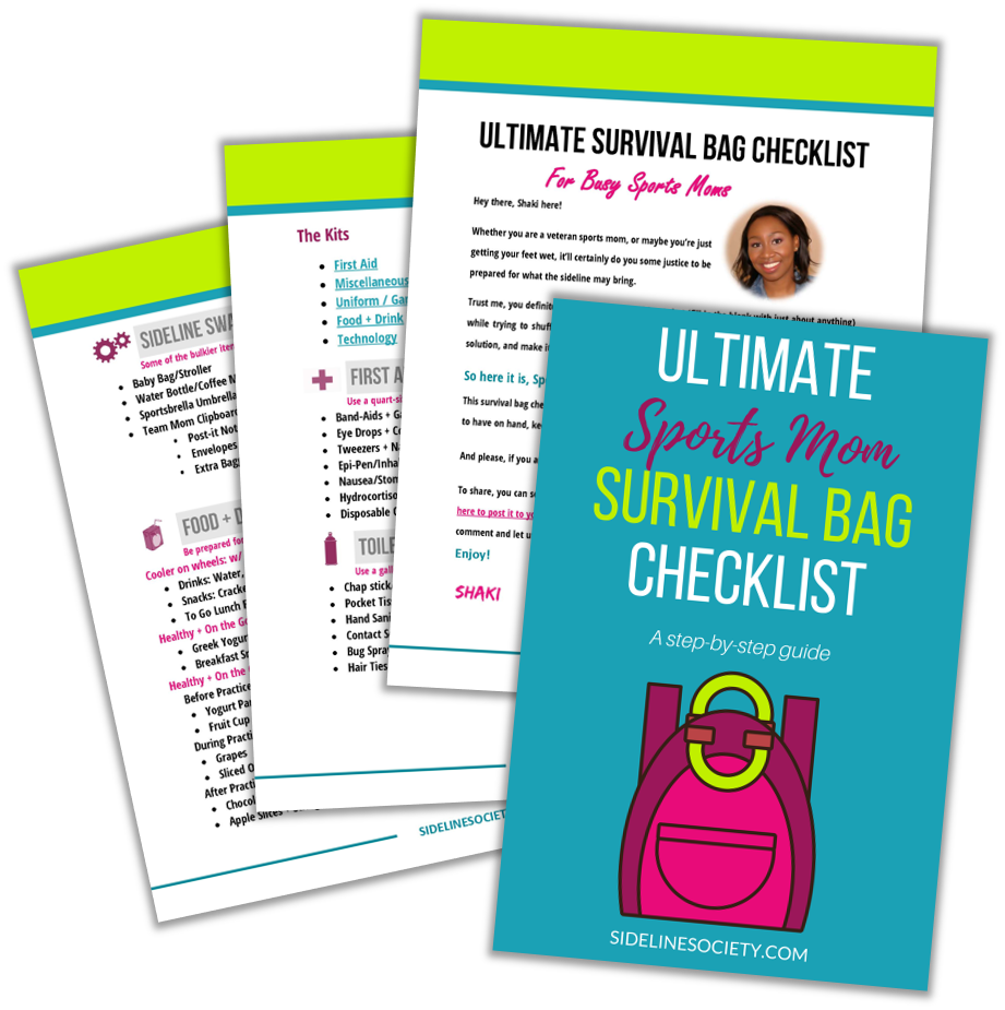Ultimate Sports Mom Survival Bag Checklist
