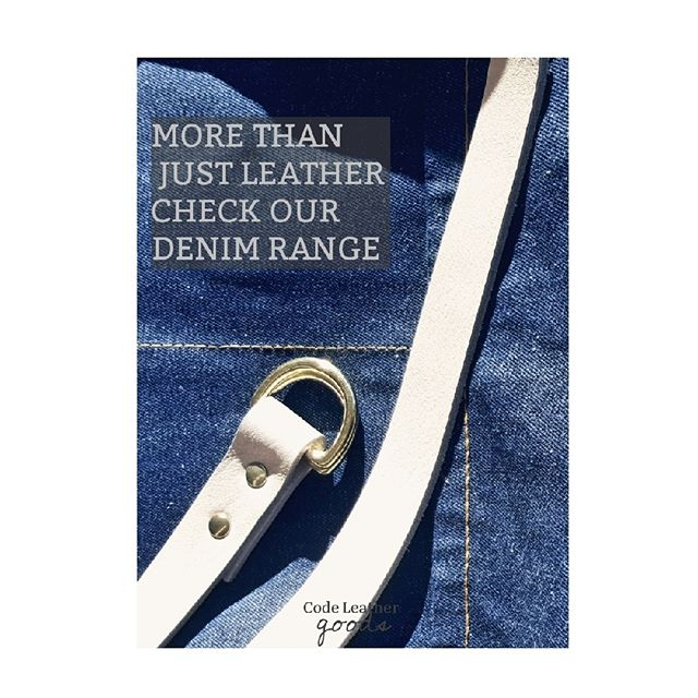 Check out our NEW collection - This practical denim apron is a great new addition to our shop - with leather straps and solid brass fittings, branded with our logo, it's both stylish and practical. Check out our online shop for more info, or to purchase! www.code-leather-goods.com #denim #denimandleather #handmade #stylish #brass #fittings #leatherstraps #newaddition collection #leatherstyle #practical