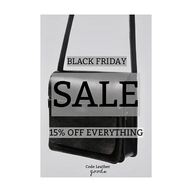 BLACK FRIDAY ALERT! We're running a 4 day Black Friday extravaganza with 15% off EVERYTHING (including workshops)! Grab yourself handmade leather accessories or the chance to enrol onto one of our awesome courses to begin your new craft journey. Sale starts Thursday morning at 10am - midnight Sunday. HAPPY BUYING FOLKS :) • • •  #Blackfriday #black #friday #4daysale #sale #leathersale #leatheraccessories #accessories #leatherstyle #handmadestyle #bagsandpurses #leathercraft #craftsman #craftsale #handmadesale #workshop #leatherworkshop #styleblog #accessoriestyle #forwardfashion #traditional #enrol #leatherteacher #newskill