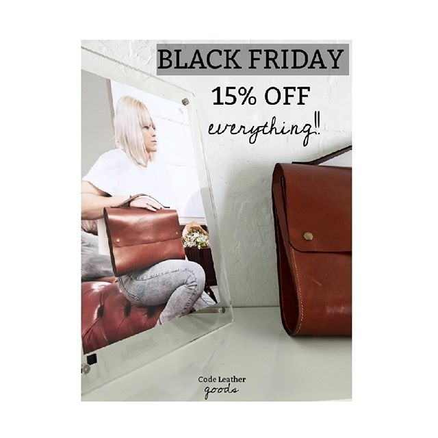 • BLACK FRIDAY DEALS • 💥 15% OFF EVERYTHING ONLINE 💥 head over to our website - link in bio. Sale starts 10AM TODAY - MIDNIGHT SUNDAY. Offer includes 💣 ALL WORKSHOPS! 💣 • • • •  #leatherworks #leathercraft #bags #leatherbags #crafting #handmadebag #instabags #blackfridaysale #christmasshopping #leatheraccessories #handcrafted #leather #british #britishmade #madelocal #workshop #leatherworkshop #live #liveloveleather #bagslover #accessories